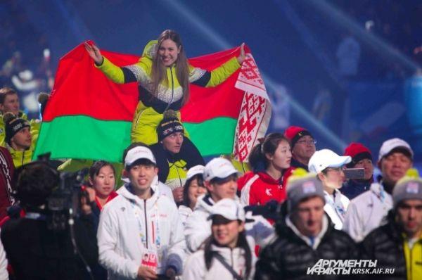 Болельщики Универсиады в Алмате.