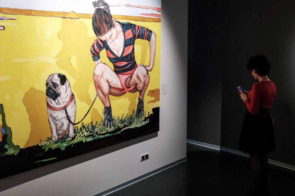 Работа Сергея Шнурова на персональной выставке «Ретроспектива брендреализма» в музее современного искусства «Эрарта» в Санкт-Петербурге.
