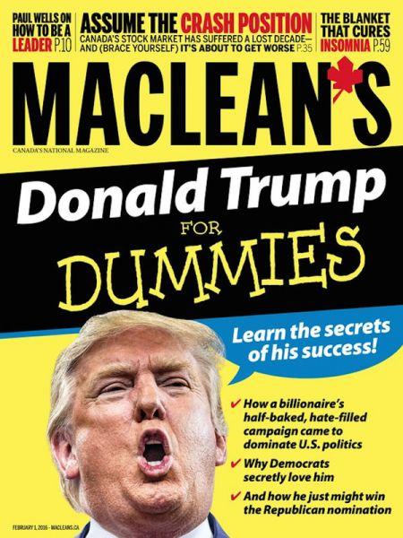 Журнал Maclean's:  «Дональд Трамп для чайников»