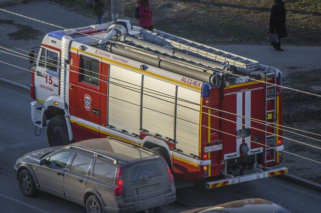 Впожаре вМясново пострадал пенсионер