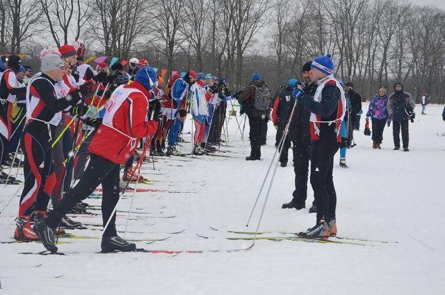 ВЯсной Поляне проходит «Лыжня России»