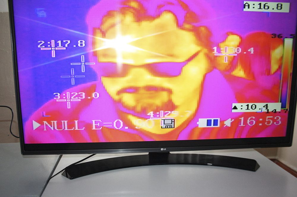 Все желающие могли посмотреть на себя в интерактивном тепловизоре.