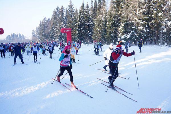 Лыжная гонка не имела возрастных ограничений.