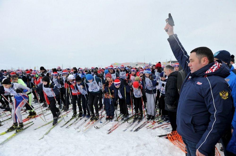 Губернатор Игорь Руденя дал старт первому забегу