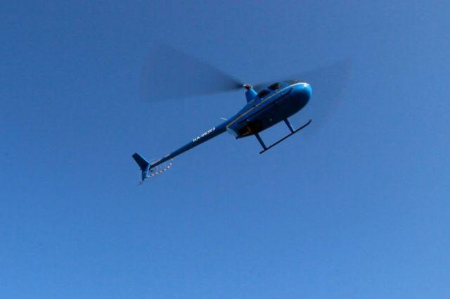 Вертолет упал в озеро Телецкое 12 февраля