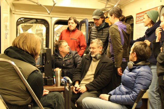 Съемки фильма «Черновик» в нижегородском метро.
