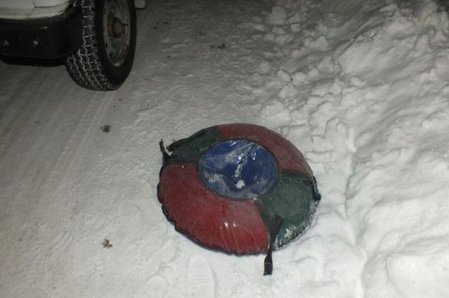 Туляк натюбинге врезался вавтомобиль