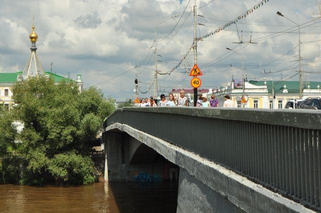 Мост идёт через реку Омь.
