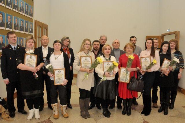 Награждённые журналисты и члены Общественного совета.