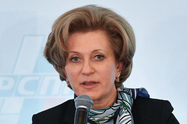Глава Роспотребнадзора Анна Попова.