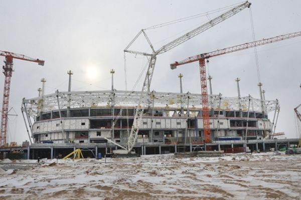 Стадион «Калининград». Февраль 2017 года.