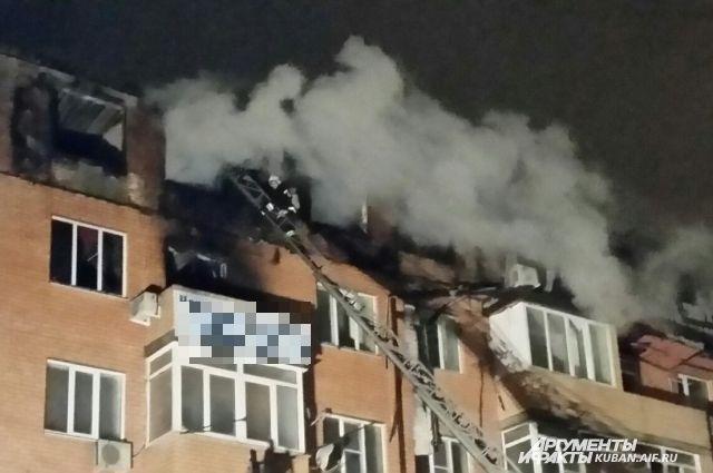 Пожар в жилом доме в Краснодаре. Главное