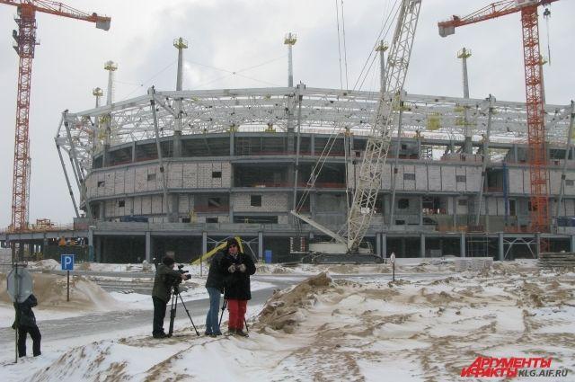 Стадион в Калининграде должны завершить к концу 2017 года.