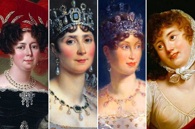 Дезире Клари, Жозефина Богарне, Мария-Луиза Австрийская, Мария Валевская.