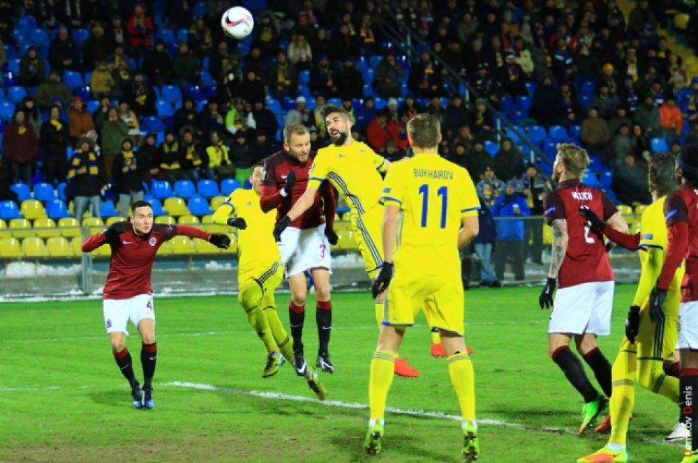 Игра 1/16 Лиги Европы между футбольными клубами «Ростов» и «Спарта» (Прага) состоялась на ростовском стадионе «Олимп-2».