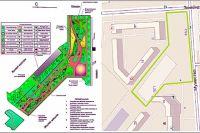 Макет дендрария предполагает растения, дорожки и учебные зоны.