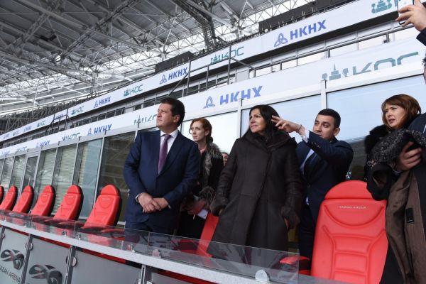 Гостья осмотрела стадион «Казань Арена».