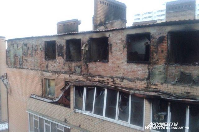 Всгоревшем доме наПрокофьева вКраснодаре включили батареи