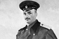 Летчик Пётр Николаевич Нестеров (1887-1914) портрет художника Л. Коваленко.