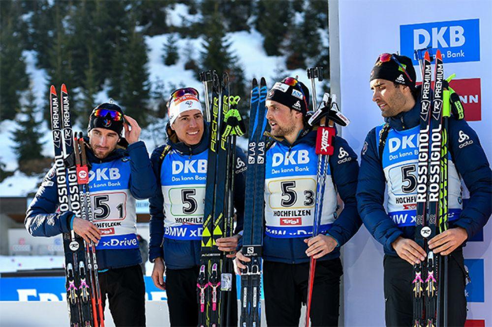 Спортсмены сборной Франции, завоевавшие серебряные медали.