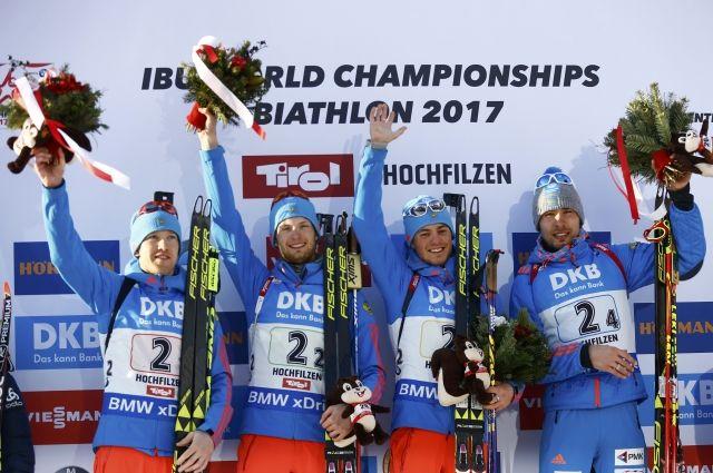Жители России завоевали золото начемпионате мира побиатлону