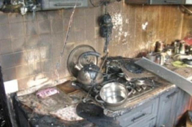 Остальные комнаты от огня не пострадали.