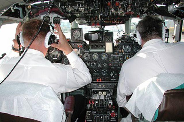 В самолёте был только экипаж.