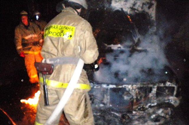 Шофёр живьем сгорел вавтомобиле вВыксе