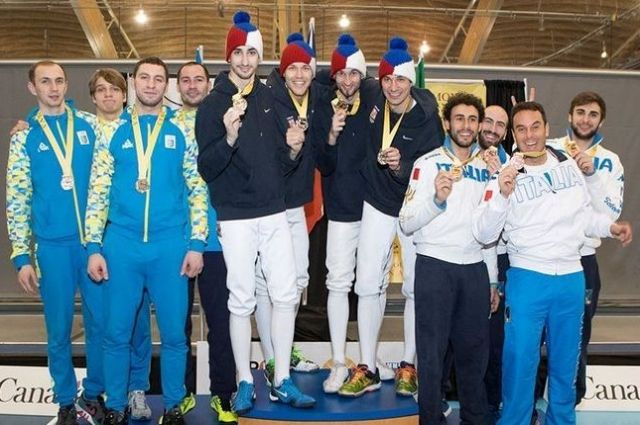 В состав национальной команды по фехтованию вошли Богдан Никишин, Владимир Станкевич, Анатолий Герей и Максим Хвороста
