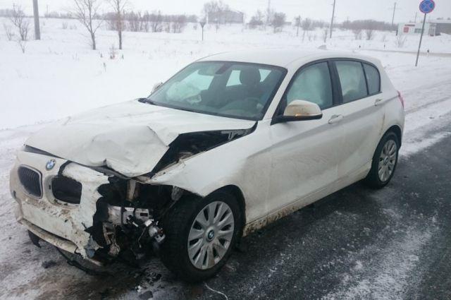 В Октябрьском районе в столкновении «Ford» и «BMW» пострадал человек