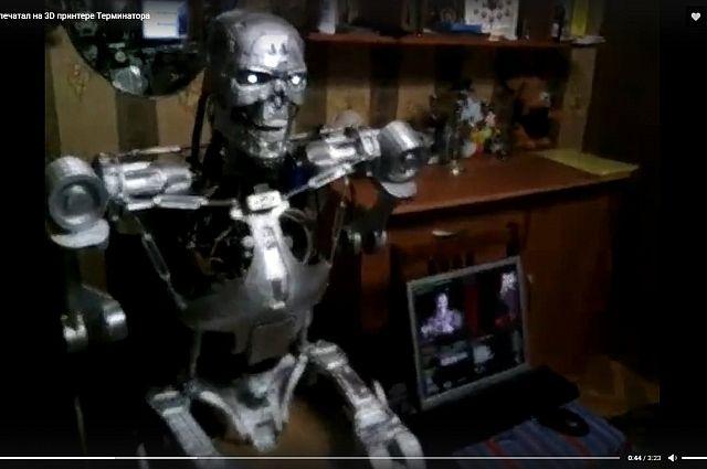 Робот представляет из себя точную копию терминатора из одноимённого фильма.