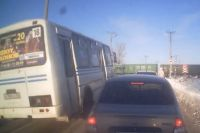 В Оренбурге водитель автобуса «ПАЗ» нарушил правила проезда ж/д переезда
