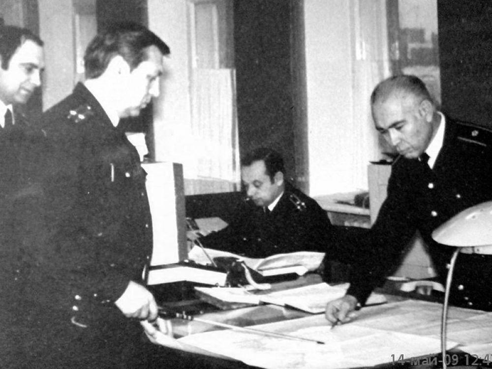 В штабе Северного флота. Уточнение задачи по боевому управлению. Северодвинск, 1983 год.