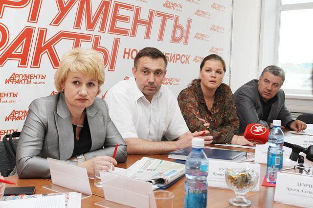 Участники мероприятия в пресс-центре