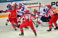 Матч чемпионата КХЛ между ПХК ЦСКА (Москва) и ХК СКА (Санкт-Петербург).