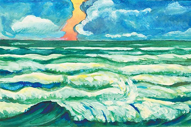 В картинах художницы сочетаются реализм и детская наивность.