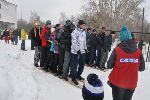 На зимней спартакиаде молодых работников ЦКБА.