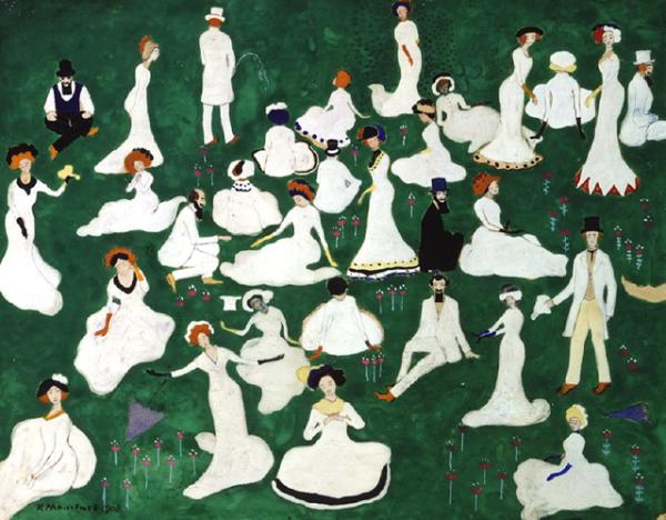 «Отдых (Общество в цилиндрах)», 1908 год