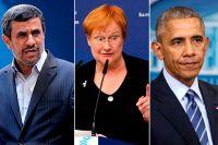 Махмуд Ахмадинежад, Тарья Халонен, Барак Обама.
