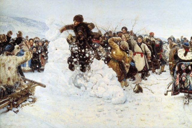 Центральным мероприятием гуляния станет взятие «Снежного городка» - народная сибирская забава, прославленная художником Василием Суриковым