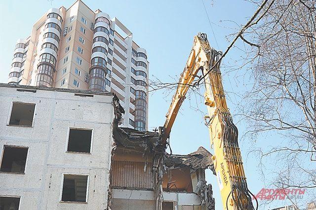 При сносе пятиэтажек москвичи получат новое жилье неподалеку