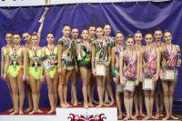 Сборная Пензенской области - бронзовый призер чемпионата ПФО по художественной гимнастике (групповые упражнения).