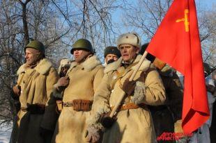 В реконструкции использовалось оружие годов ВОВ