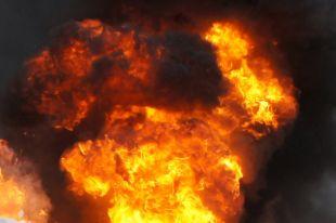 На трассе Балтийск-Калининград сгорел автомобиль.