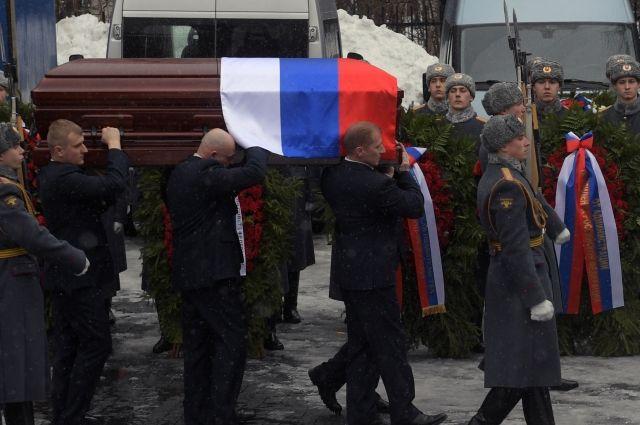 Виталия Чуркина похоронили на Троекуровском кладбище в Москве