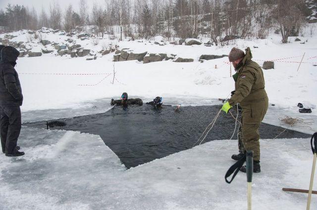 Карельские дайверы на Ключевском карьере