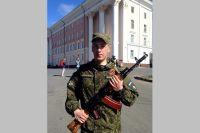 Александр Волков в войсках ПВО, г. Архангельск.