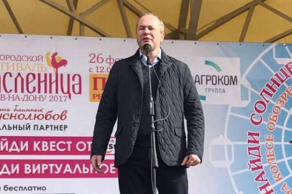 Праздник посетил и поздравил ростовчан глава администрации города Ростова-на-Дону Виталий Кушнарев