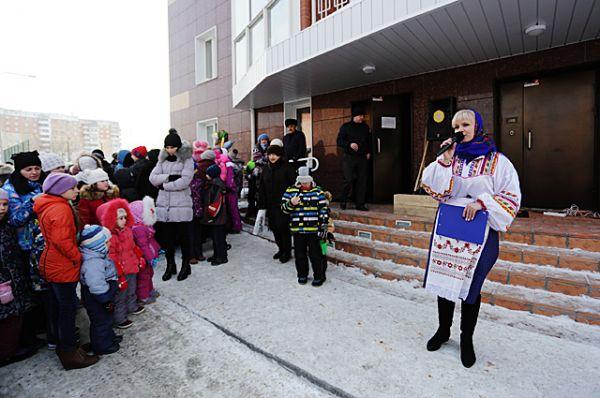 На праздник в честь Масленицы собралось много жителей ЖК «Крымский»