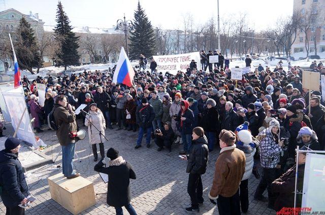 ВНовосибирске прошел марш памяти Бориса Немцова